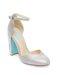 Betsey Johnson Sybil Beaded Almond Toe Pumps