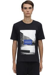 Calvin Klein Jeans Photographic City Sport Cotton T Shirt Black