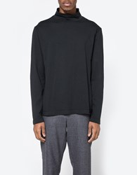 Our Legacy Turtleneck Washed Black Army Jersey