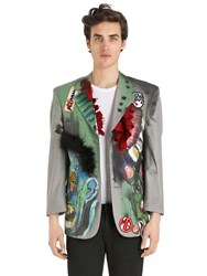 Patricia Field Art Fashion Scooter Laforge Hand Painted Blazer
