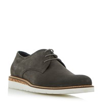 Dune Bronx Cork Wedge Gibson Shoe Grey