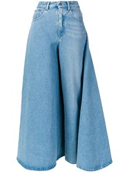 Y Project Deconstructed Skirt Jeans Blue