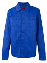 The North Face Concealed Fastening Shirt Jacket Blue