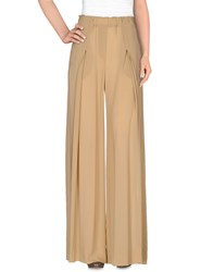 Donna Karan Trousers Casual Trousers Women Camel