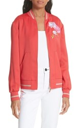 Ted Baker London Ruuthe Chinoiserie Embroidery Jacket Bright Red