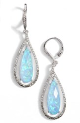 Judith Jack Women's Teardrop Earrings Opal Black Diamond Marcasite