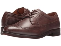Polo Ralph Lauren Moseley Dark Brown Burnished Leather Men's Lace Up Wing Tip Shoes