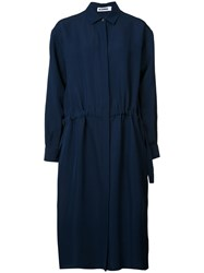 Jil Sander Shirt Dress Blue