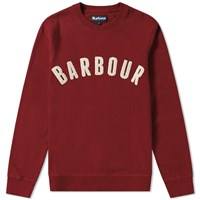 Barbour Prep Logo Crew Sweat Red