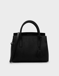Charles And Keith Structured Top Handle Bag Black