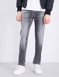 Replay Grover Hyperflex Slim Fit Straight Jeans Grey