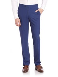 Isaia Wool Pants Dark Blue