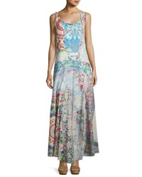 Johnny Was Bessy Mix Print Cotton Maxi Dress Multi