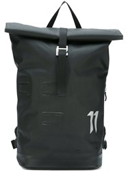11 By Boris Bidjan Saberi Logo Print Laptop Backpack Black