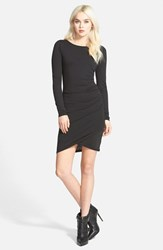 Women's Leith Ruched Long Sleeve Dress Black