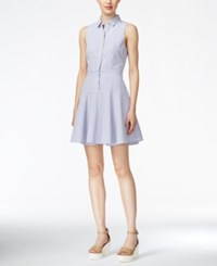 Armani Exchange Fit And Flare Striped Shirtdress Winter