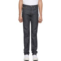 Naked And Famous Denim Indigo Chinese New Year Metal Rat Super Guy Jeans