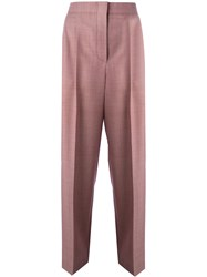 Celine Wide Legged Cropped Trousers Red
