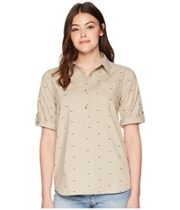 United By Blue Fox Trail Printed Popover Tan Clothing