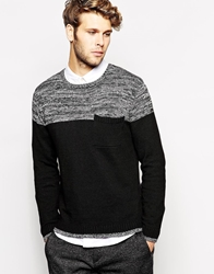 Another Influence Jumper Cut And Sew Black