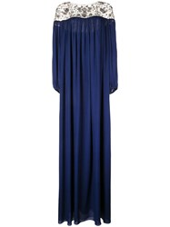 Marchesa Tunic Gown Blue