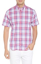 Tailorbyrd Alesso Regular Fit Plaid Sport Shirt Coral