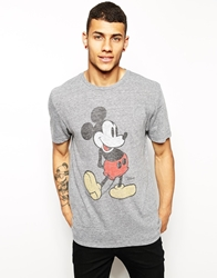 Junk Food Mickey Mouse T Shirt Grey