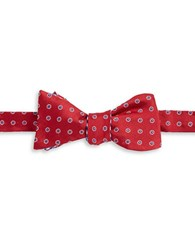 Brooks Brothers Reversible Patterned Silk Bow Tie Red