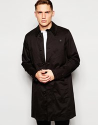 G Star G Star Trench Coat James Premium Micro Stretch Black