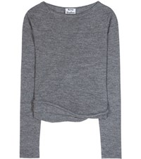 Acne Studios Janelle Alpaca And Wool Blend Sweater Grey