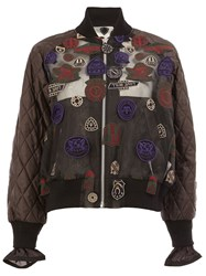 Sacai Patch Embroidered Bomber Black