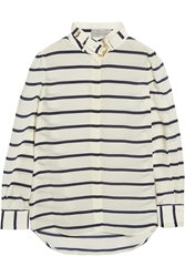 Preen Breton Striped Silk Crepe De Chine Shirt
