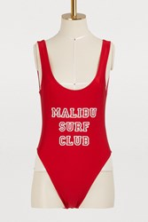 Private Party Malibu Surf Club One Piece Swimsuit Red