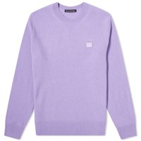 Acne Studios Kalon Face Crew Knit Purple