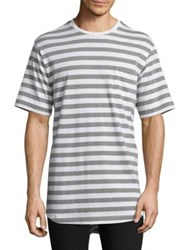 Diesel Black Gold Oversized Striped T Shirt Snow White