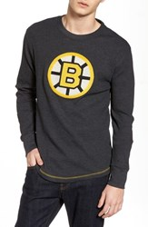 American Needle 'S Boston Bruins Embroidered Long Sleeve Thermal Shirt Black