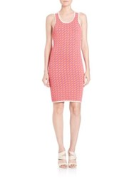 Jonathan Simkhai Techno Tribal Dress Neon Pink