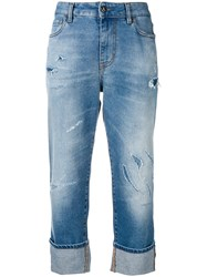 Just Cavalli Distressed Cropped Jeans Blue