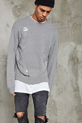 Forever 21 Distressed Crew Neck Sweater