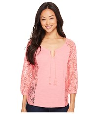 Ariat Hannah Top Pale Flamingo Women's Blouse White