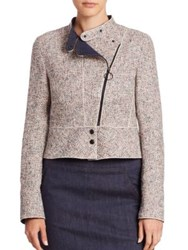 Akris Punto Tweed Biker Jacket Multicolor
