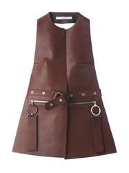 Givenchy Belted Halterneck Waistcoat Brown