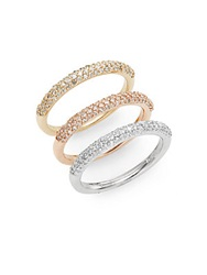 Effy Final Call 0.98 Tcw Diamond 14K Yellow Rose And White Gold Band Ring Set Gold Multi