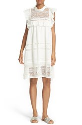 Sea Women's Baja Lace Cotton Swing Dress White