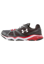 Under Armour Micro G Strive V Sports Shoes Carbon Rouge Blanc Grey