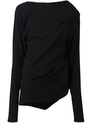 Ann Demeulemeester Draped Sweater Black