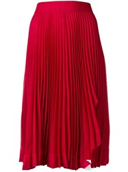Calvin Klein 205W39nyc Pleated Midi Skirt Red