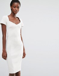 French Connection Whisper Light Fitted Dress African Stone
