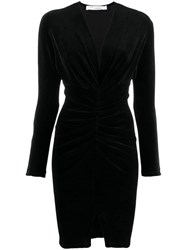 Iro Ruched V Dress Black