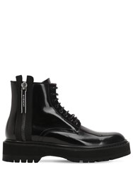 Givenchy Camden Leather Utility Boots With Zip Black
